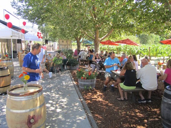 Relax in the laid-back atmosphere of Saddleback Cellars on your Napa Valley group wine tour with Dynamic Wine Tours!
